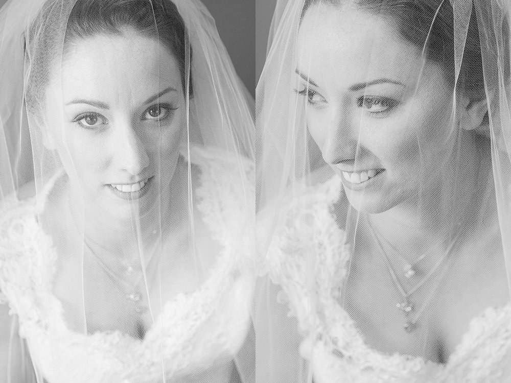 Melton Estate Wedding-close up of the bride under her veil