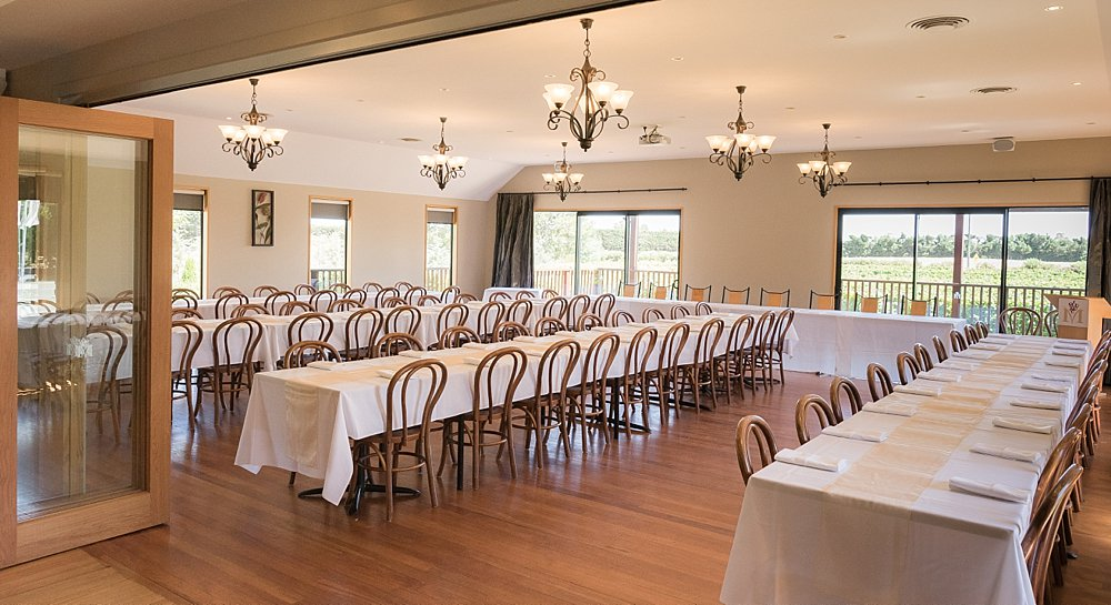 Main function room at Melton Estate Wedding Venue, Christchurch
