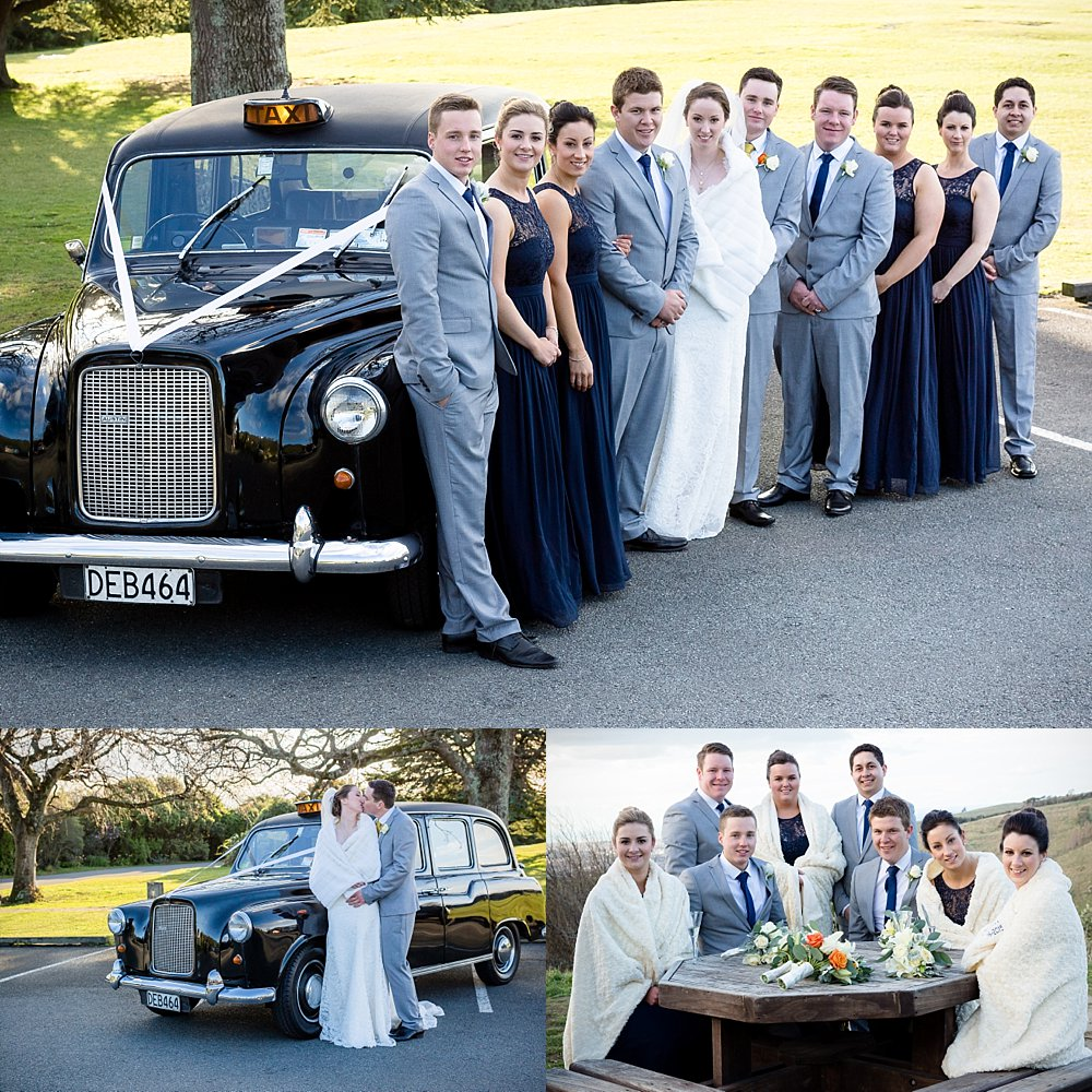 Melton Estate Wedding-Photo collage of the bridal party in Christchurch