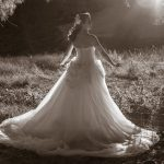 Photo of a Christchurch bride backlit by the sun