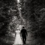 Hanmer Heritage Hotel wedding with a forest photo of the bride and groom