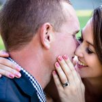 wedding photos venues with bride groom kissing
