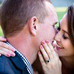 wedding photos venues with bride groom kissing