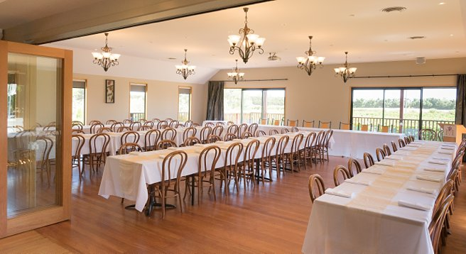 Photo of the main function room at Melton Estate Wedding Venue