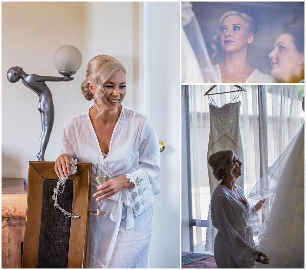 Darjon Vineyard Wedding-Bride getting ready at Flaxton Manor