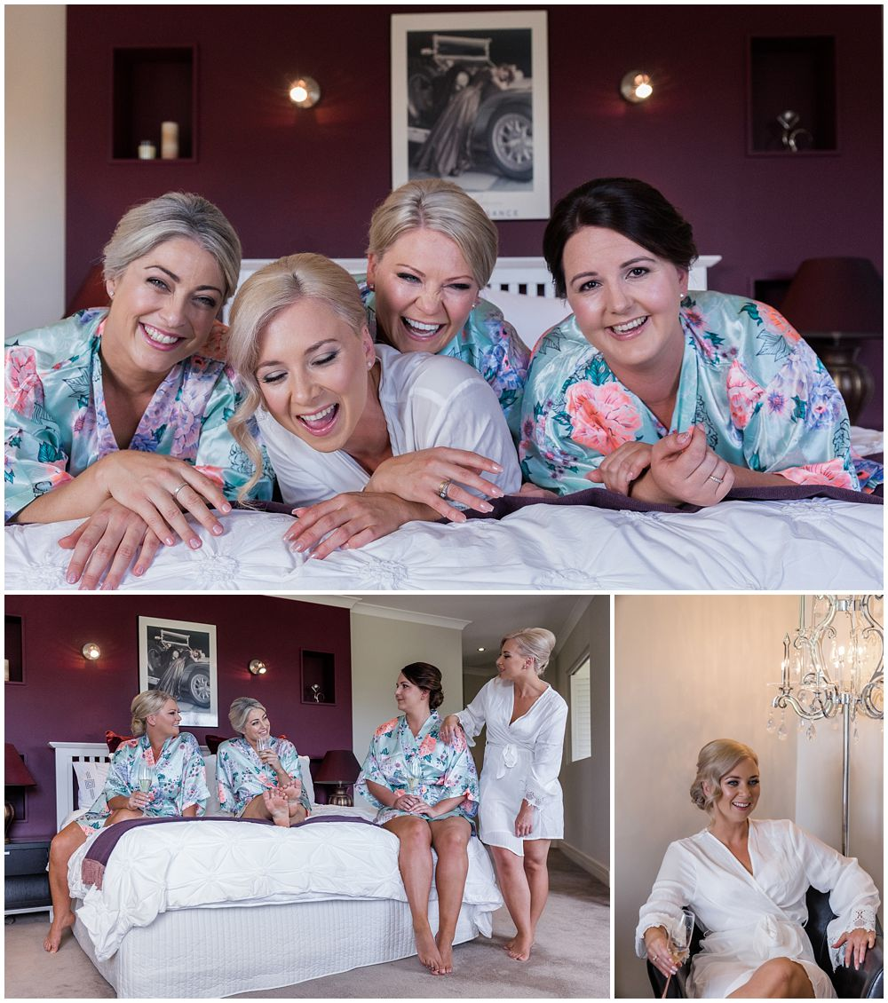 Darjon Vineyard Wedding-Bride and girls lying on bed laughing