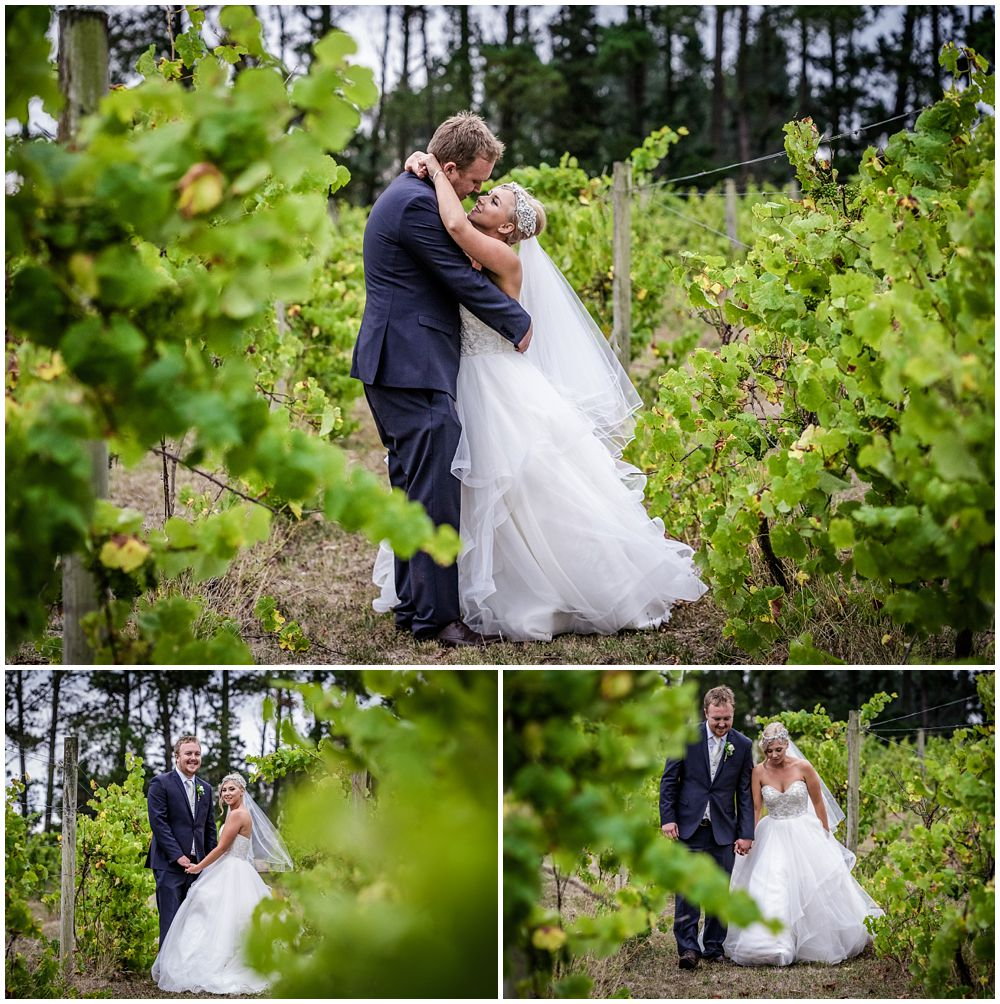 Darjon Vineyard Wedding Venue couple in the vines