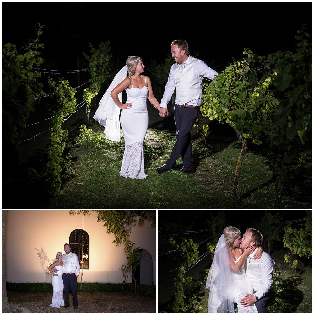 Darjon Vineyard Wedding Venue night time photography