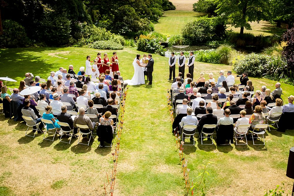 Wedding ceremony at Flaxmere Garden Wedding Venue