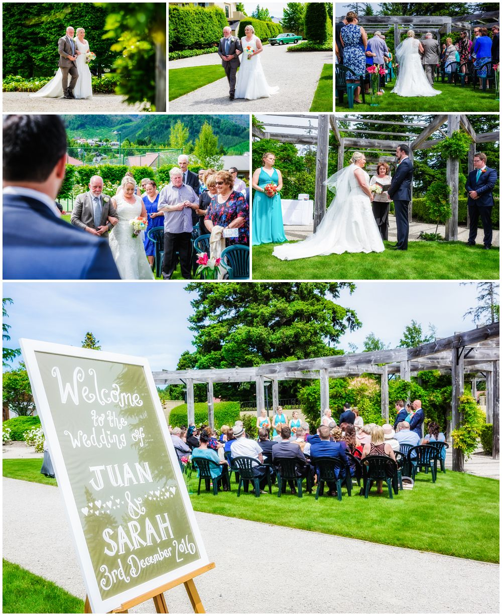 Heritage Hanmer Springs Wedding Venue ceremony in beautiful sunny weather