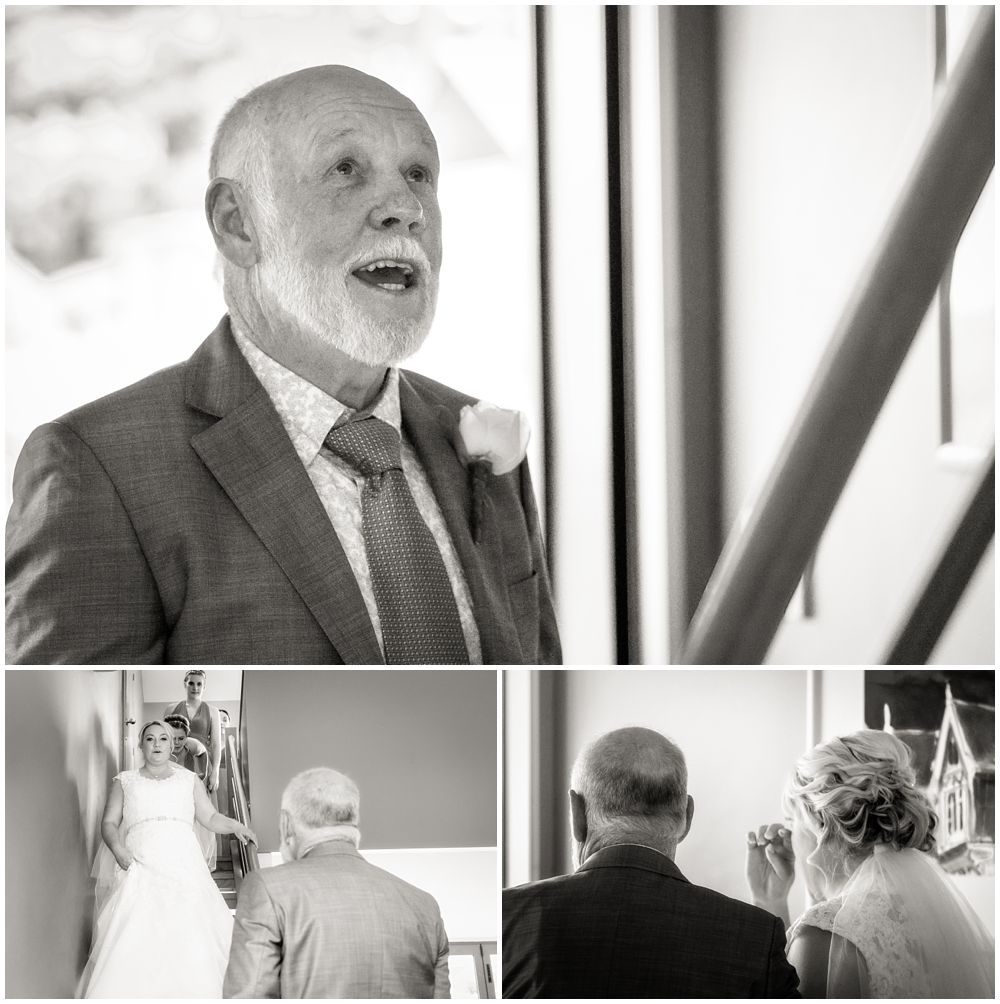 Heritage Hanmer Springs Wedding-Father sees the bride for first time