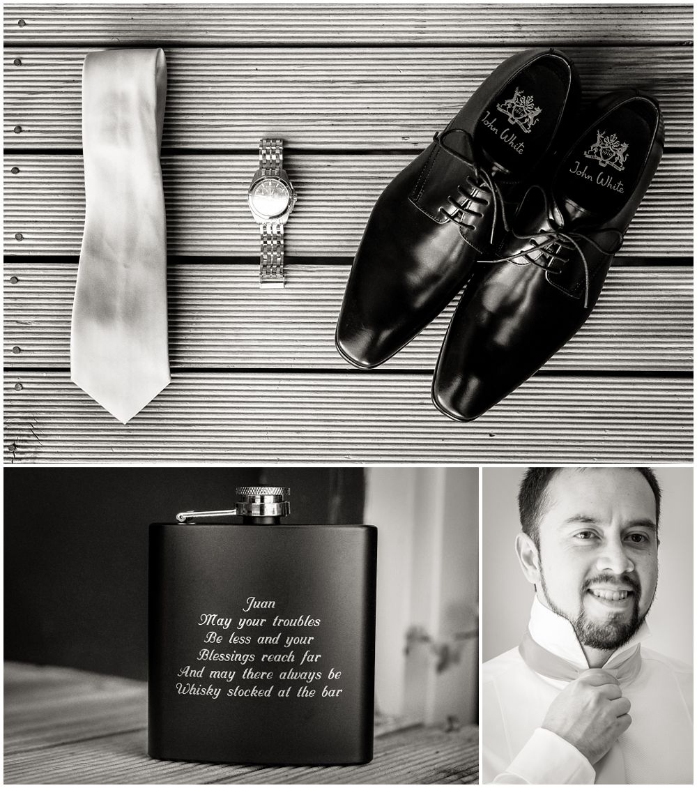 Heritage Hanmer Springs Wedding-Detail shot of groom's shoes and whisky bottle