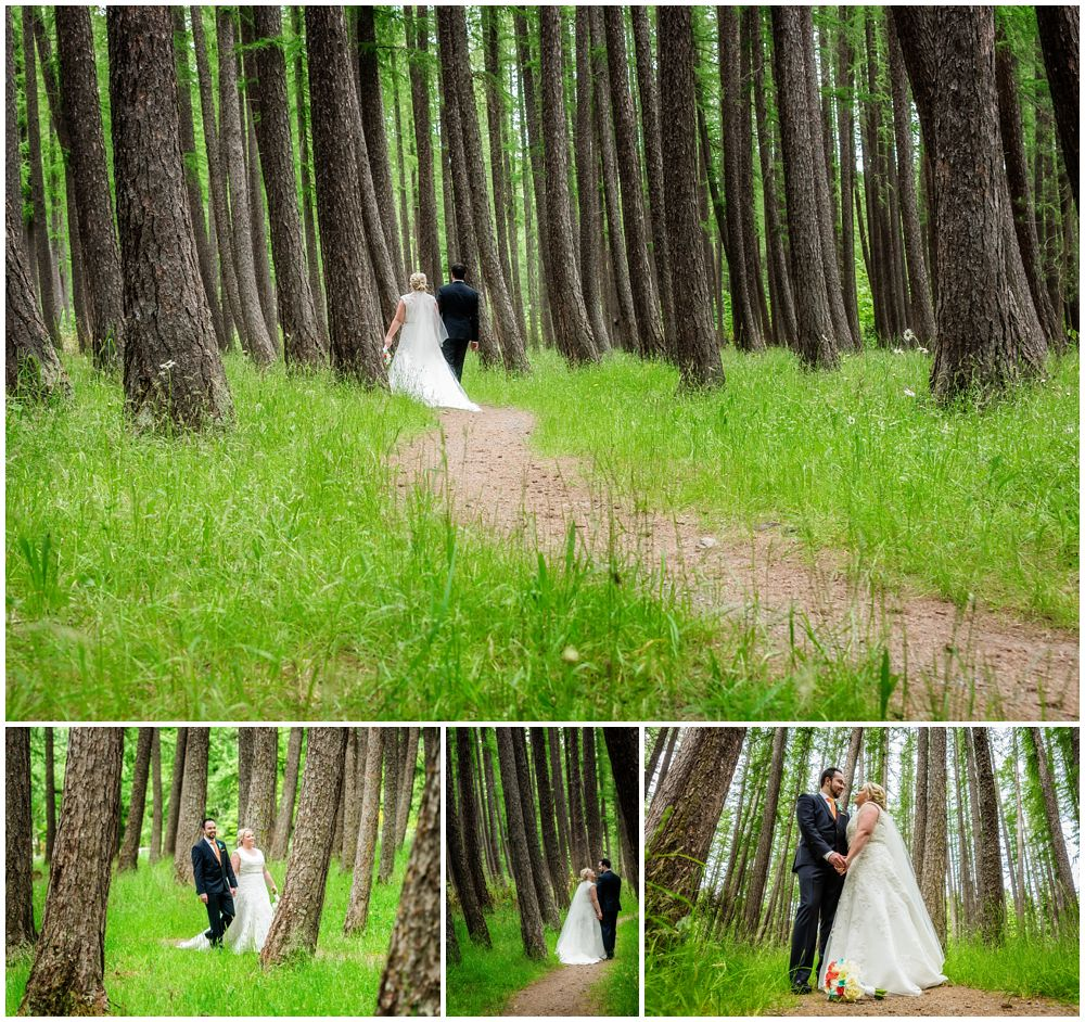 Heritage Hanmer Springs Wedding-bride and groom's walking in forest