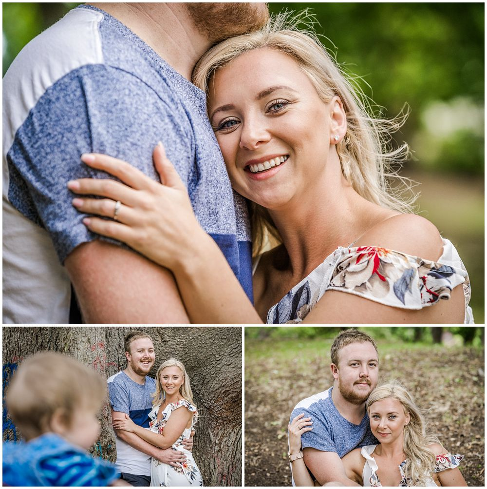 Kaiapoi domain engagement shoot with Nick Jasmine and Oliver