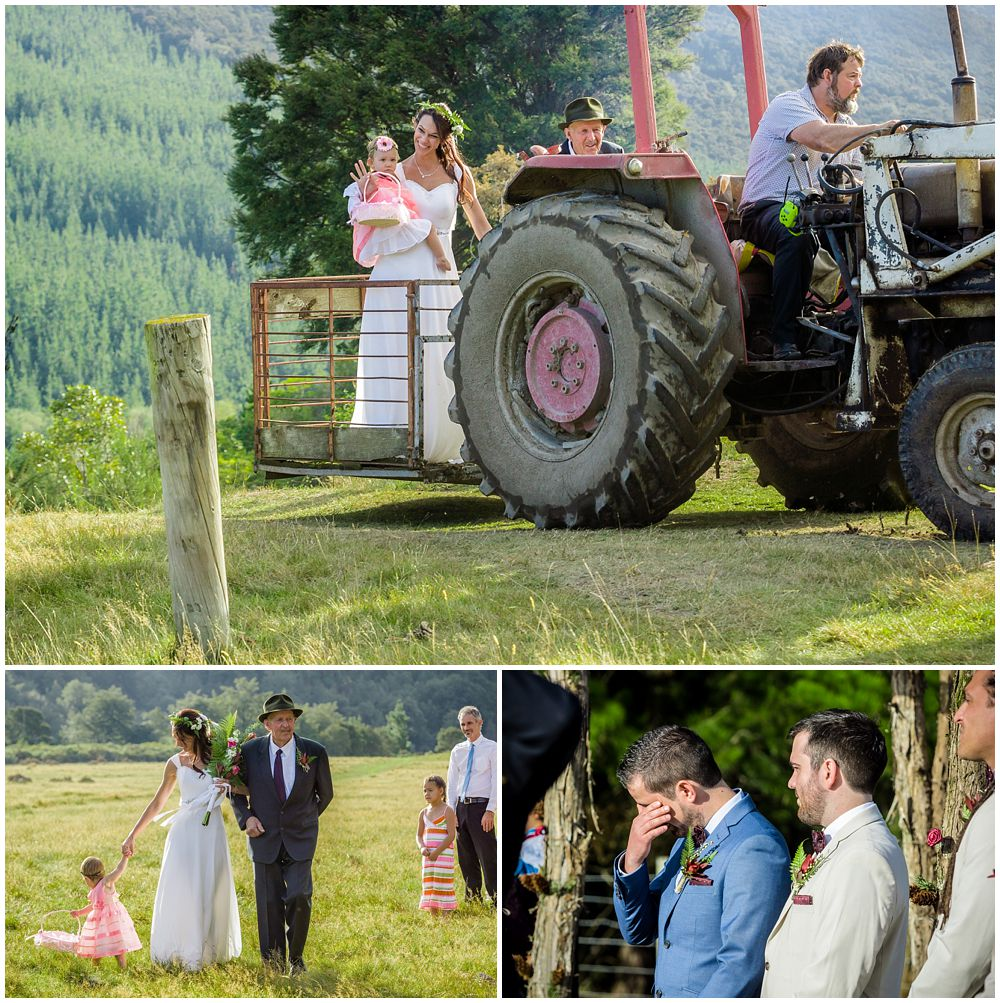 Farm Wedding ceremony by Wedding Photographer Christchurch