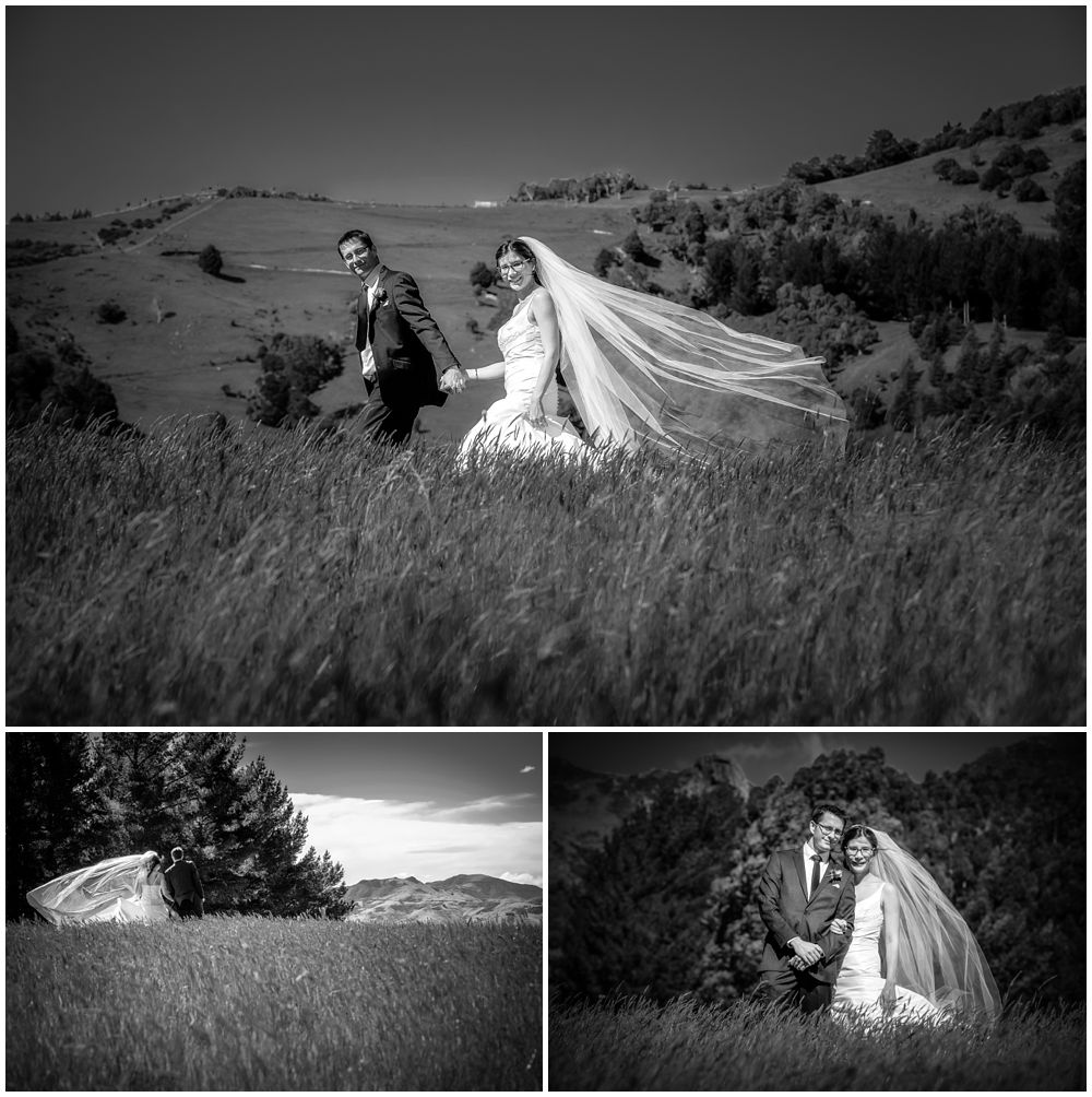 Mt Vernon Lodge Wedding Venue-Akaroa-NZ- bride and groom on hill top