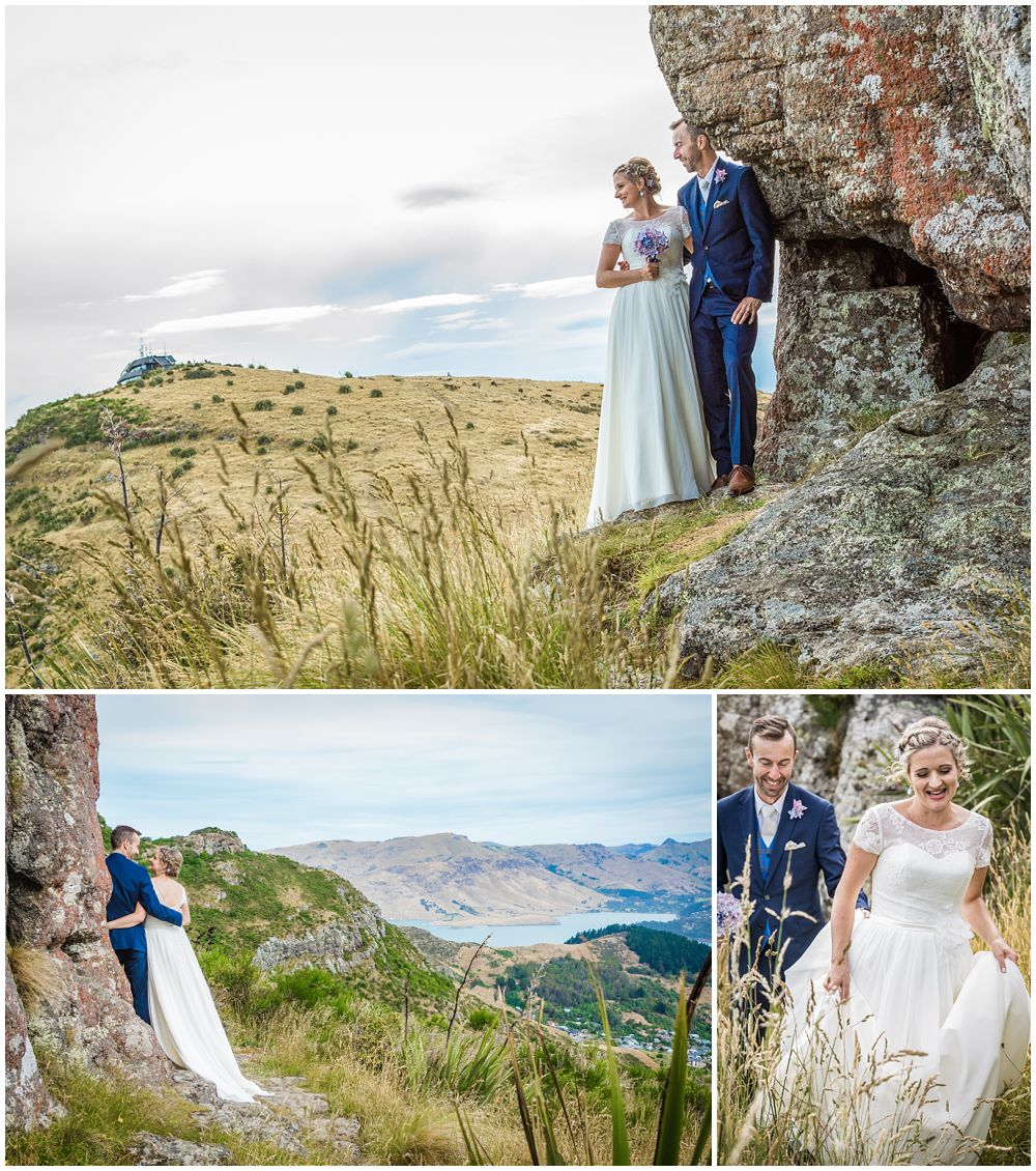 Tannery Wedding-bride-groom on the Port Hills in Christchurch