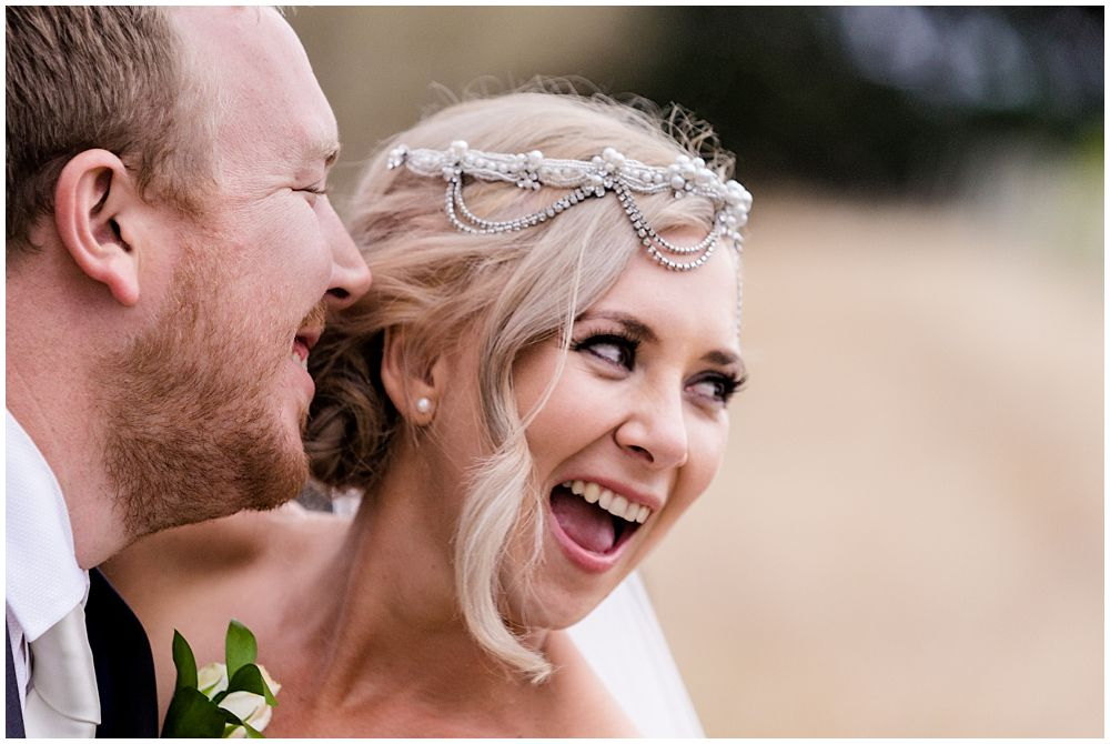 Christchurch Wedding Photographers photo of close-up of bride and groom laughing