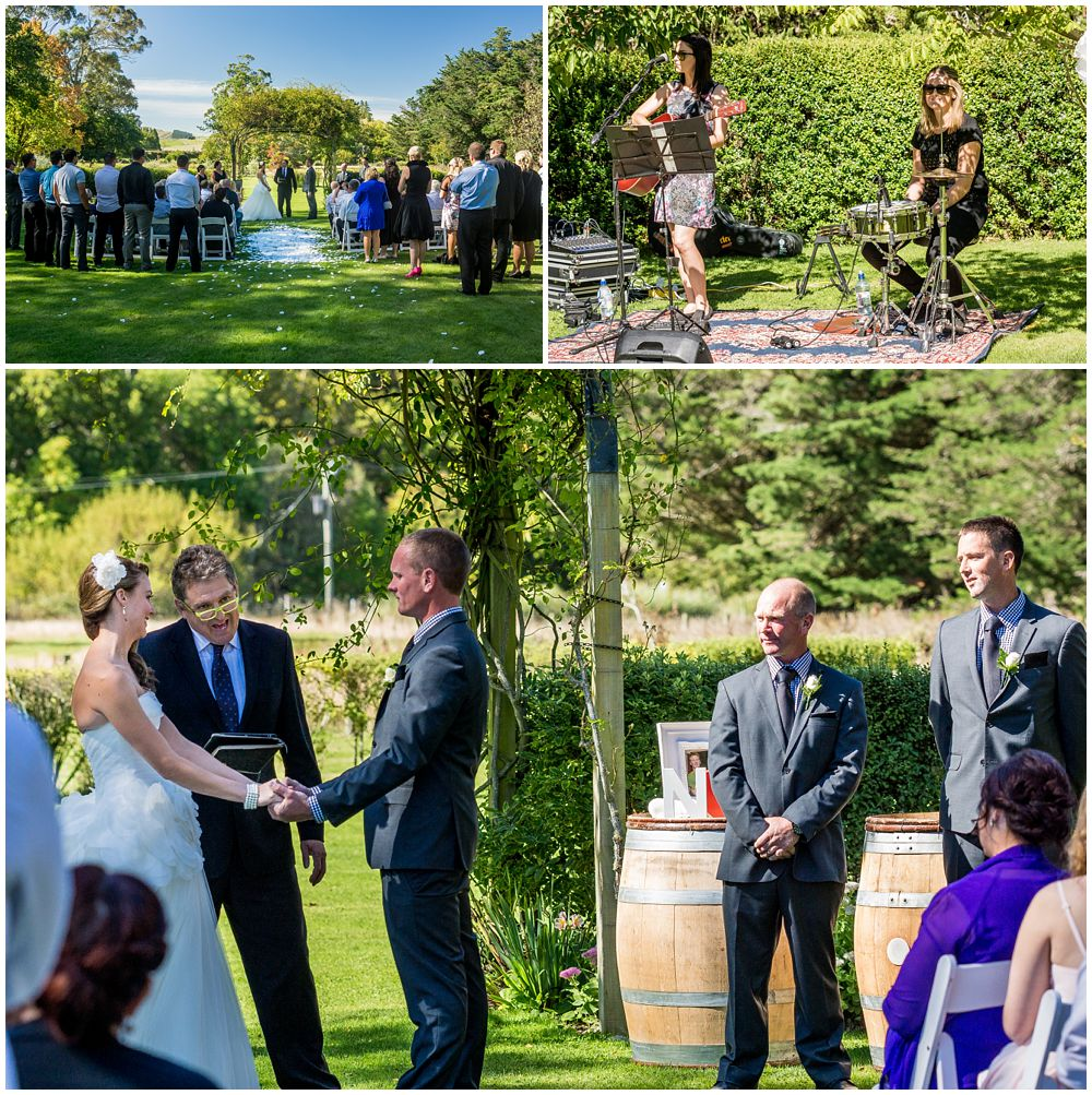 Tipapa Woolshed Barn Wedding Venue outdoor lawn ceremony