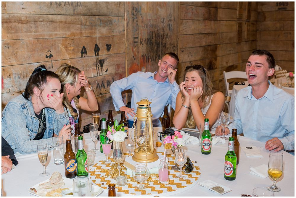 Tipapa Woolshed Wedding Venue guests having a laugh