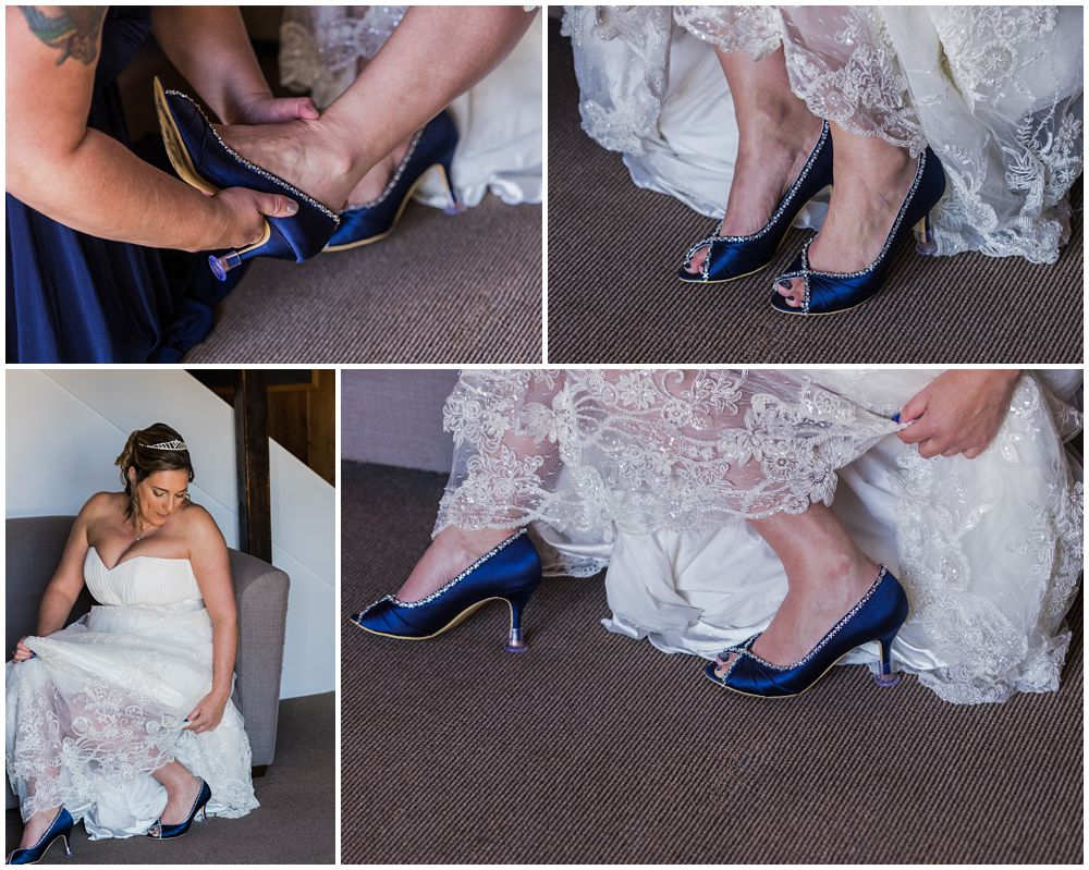 Bride's wedding shoes photo
