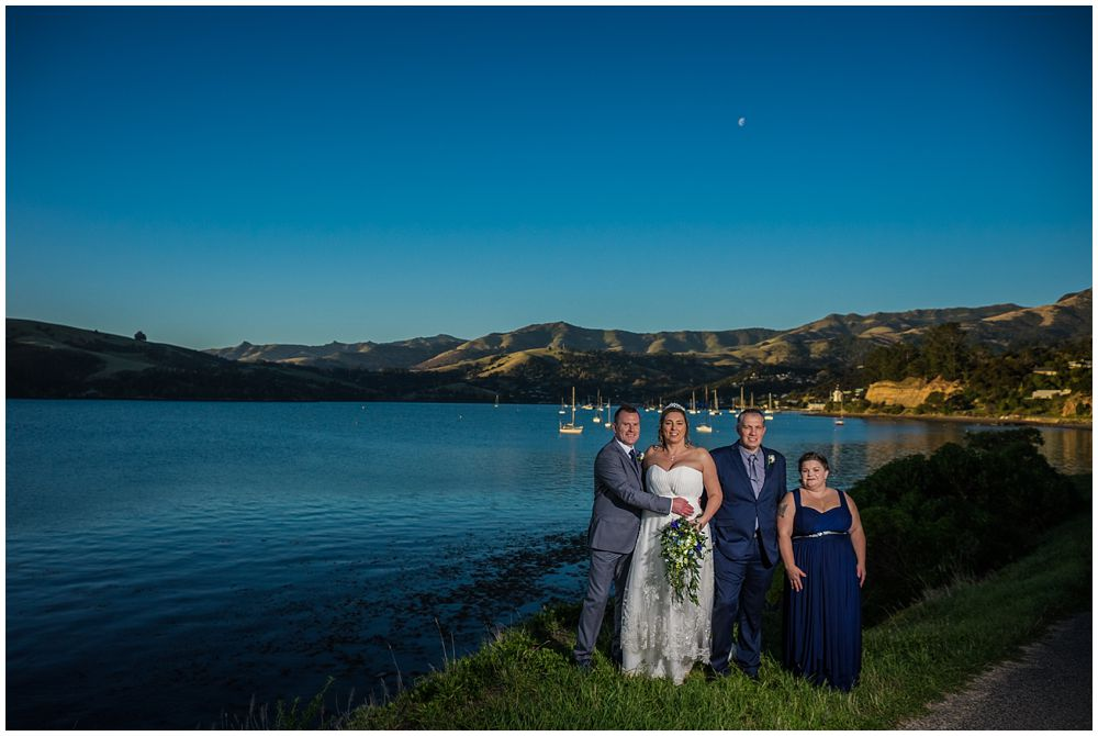 bridal party by the harbour