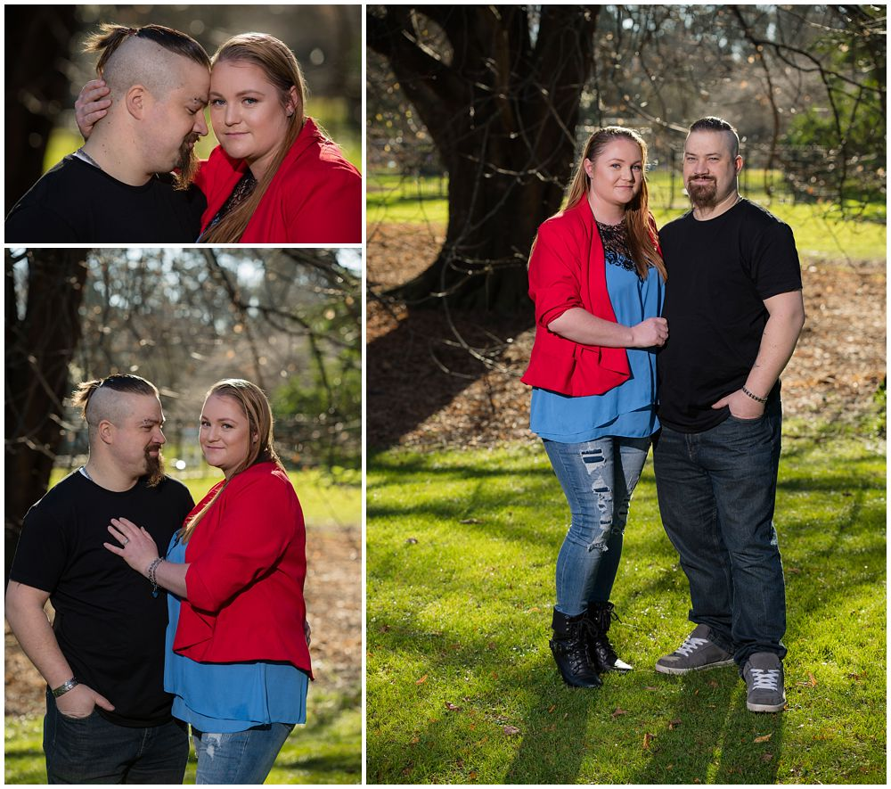 Christchurch Botanic Gardens Autumn Engagement Photography with a couple