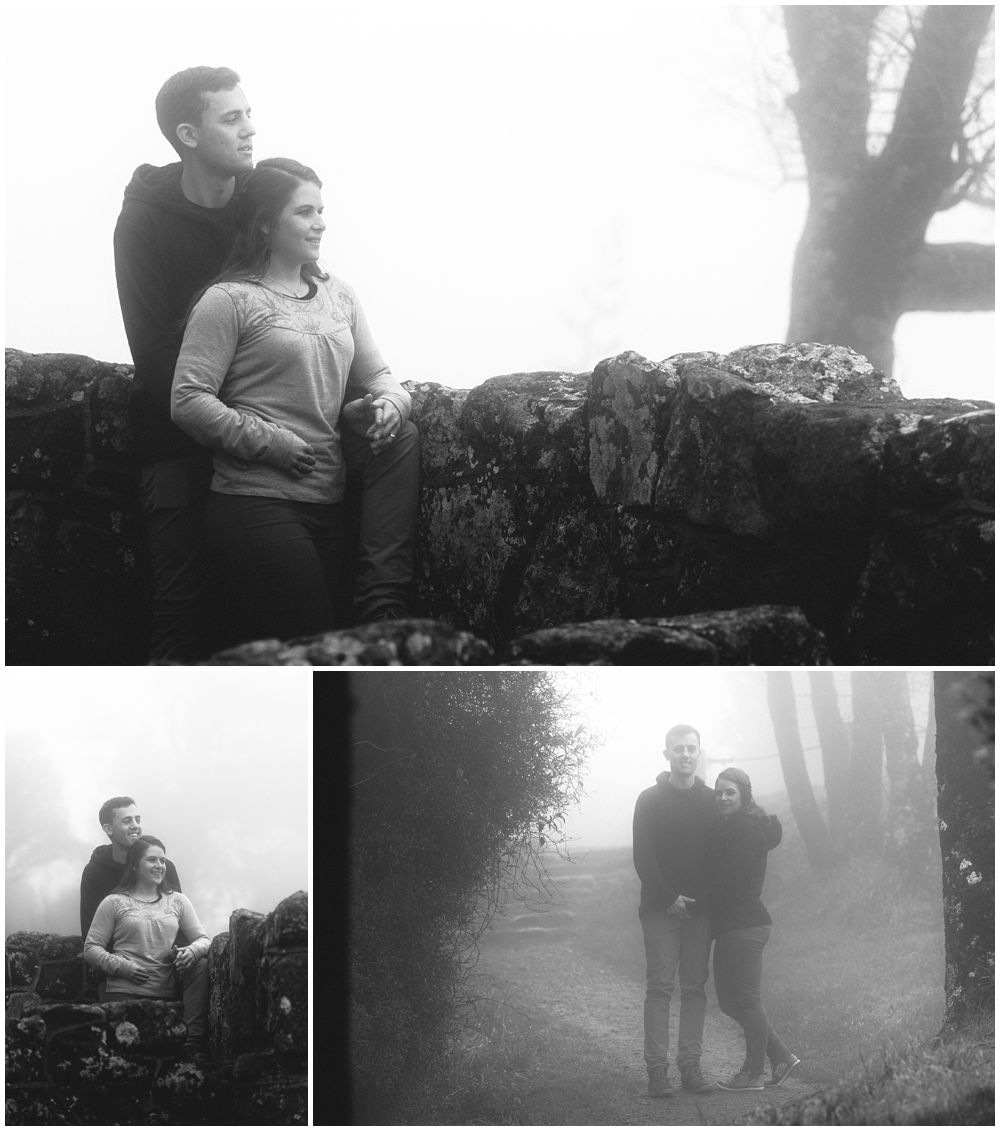 Misty Port Hills Engagement Photography