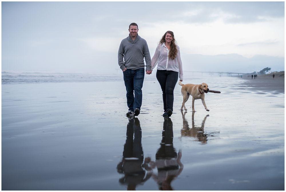couple walking on New Brighton Beach
