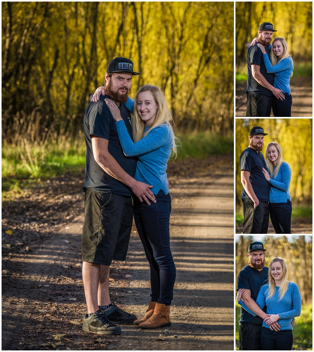 collage of couple in autumn