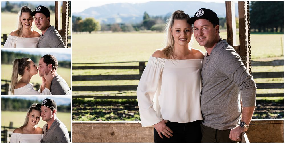 Winter Farm Engagement Photography