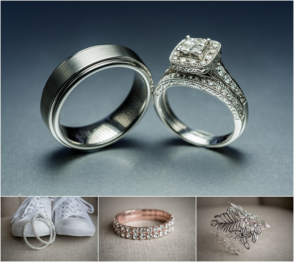 lacebark wedding details of rings-shoe-bracelets