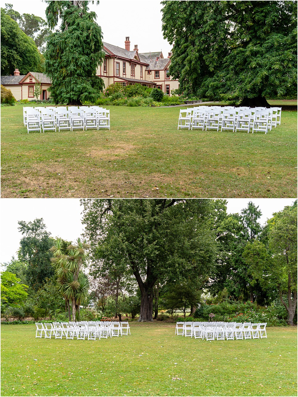 setting set up for wedding ceremony at riccarton house