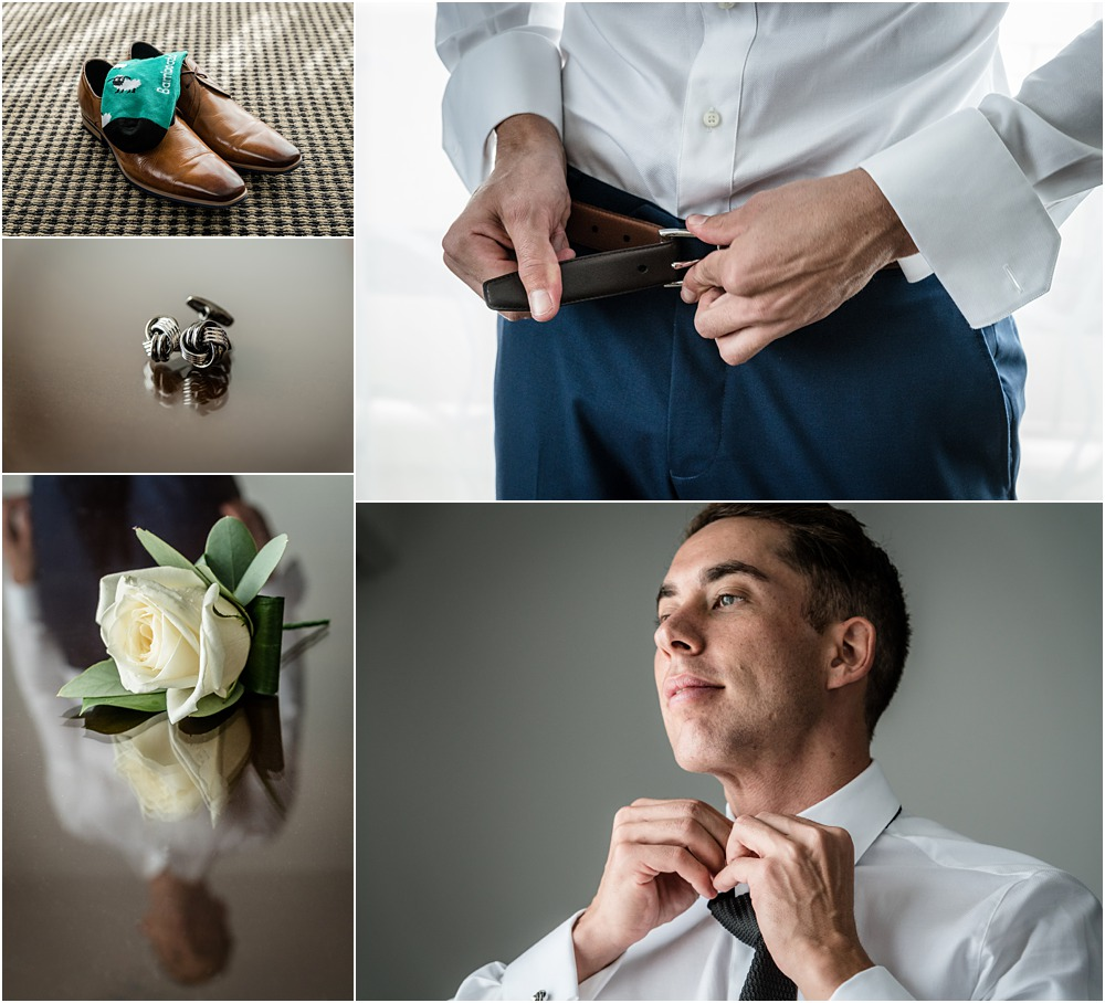 grooms shoes - buttonereer flower and groom getting ready