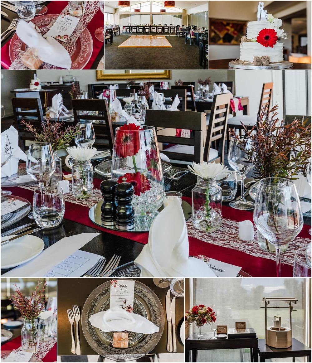 Braemar Lodge wedding reception hall detail and setup