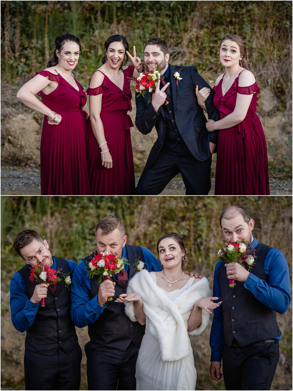Braemar Lodge wedding photos of bridal party