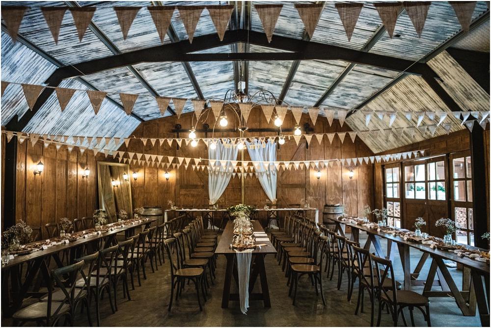 Harpers Homestead wedding venue reception barn